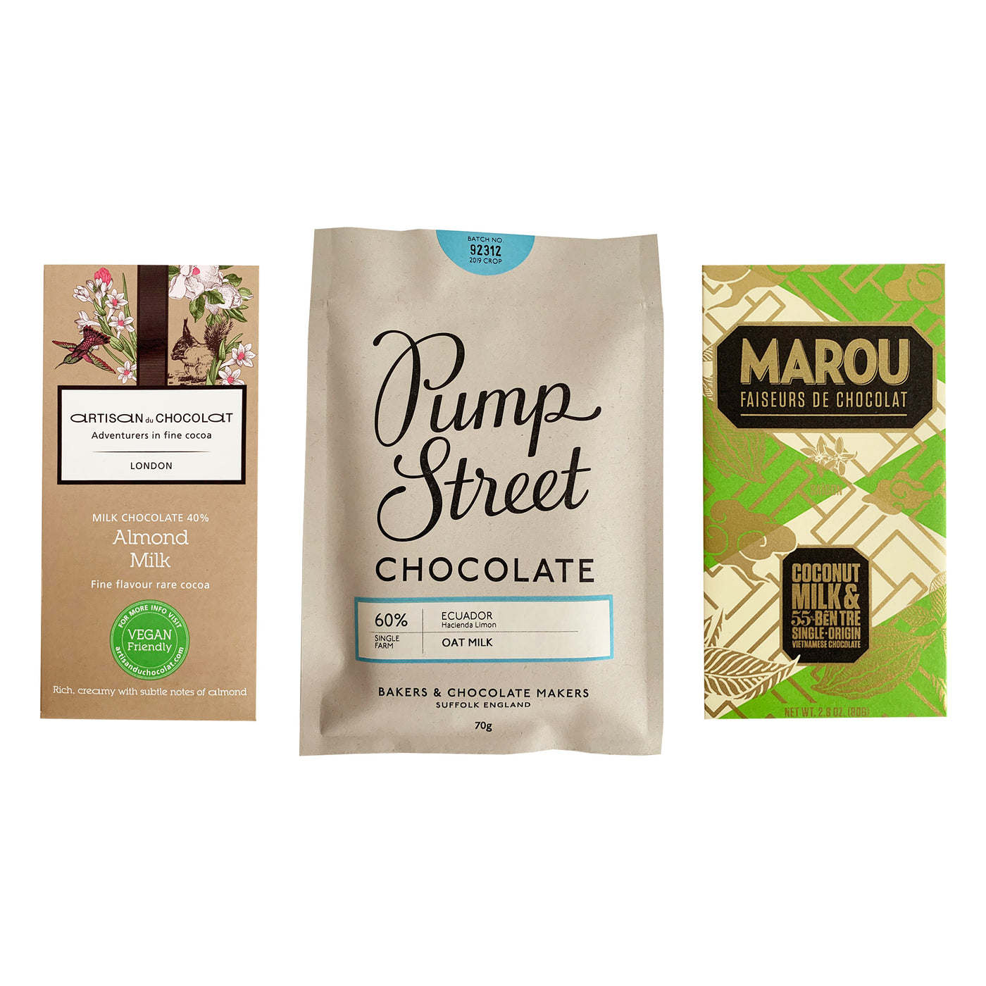 Vegan Milk Chocolate Bar Bundle (Includes Almond, Coconut and Oat Milk Chocolate) 3 Items