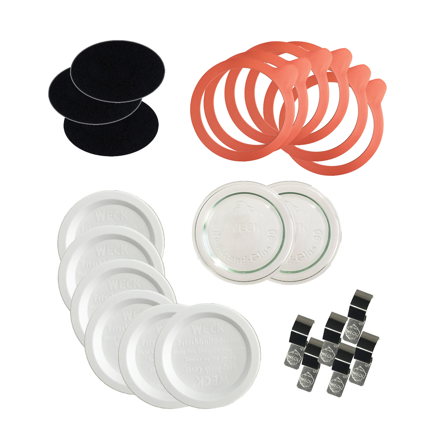 WECK Replacement Kit for 80mm (Medium) Weck Jars