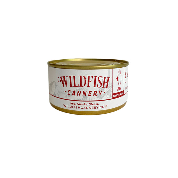 Wildfish Cannery Smoked Alaskan White King Salmon 6 Ounces