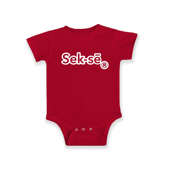 The Sek-sē Logo Outlined Jersey Bodysuit
