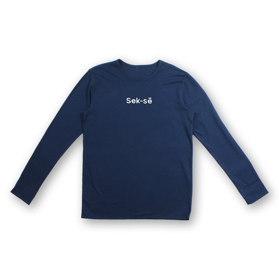 Sek-sē White Embroidered Mid-size Logo Thermal