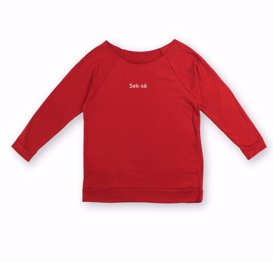 Simple Logo French Terry Raglan Sweatshirt