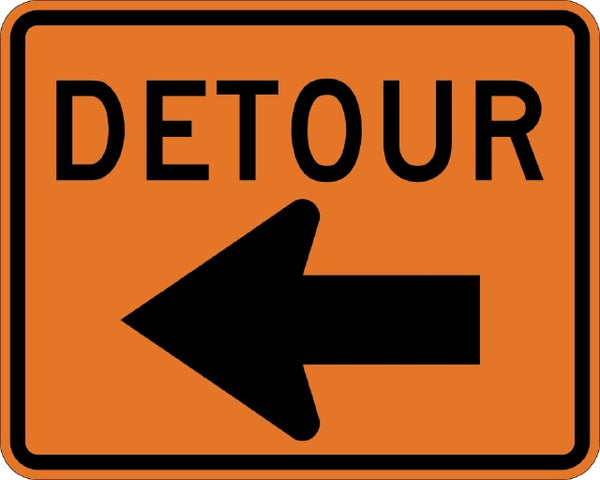 M4-9L MUTCD DETOUR WITH ARROW LEFT