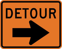 M4-9R MUTCD DETOUR WITH ARROW RIGHT