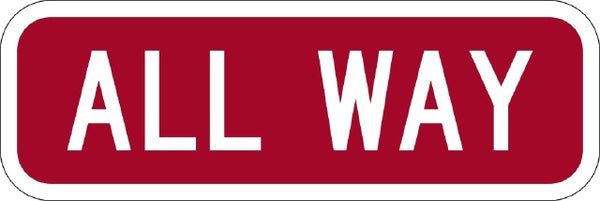 R1-4 MUTCD ALL-WAY Sign