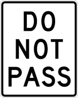 R4-1, MUTCD DO NOT PASS