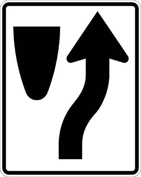R4-7, MUTCD Keep Right Symbolic Sign