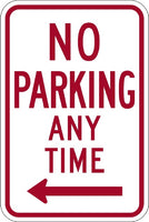 R7-1, MUTCD NO PARKING ANY TIME