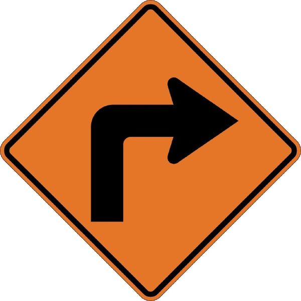 W1-1R, MUTCD TURN RIGHT