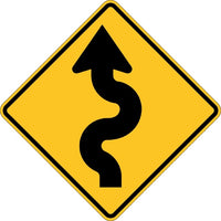 W1-5L, MUTCD  WINDING ROAD