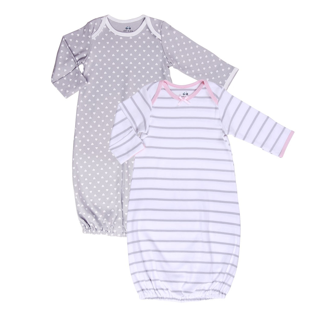 Baby Cotton sleep Sack Set (2 piece) polka heart and stripes