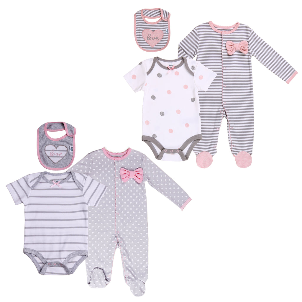 Baby Twin Girl 6-Piece Layette Set