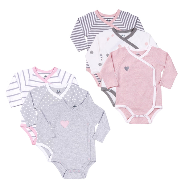 Twin Girl 6-Pc Bodysuits