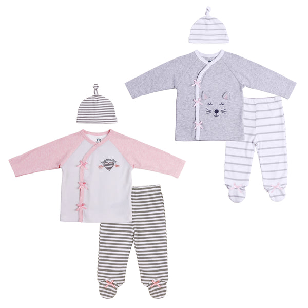 Twin Girl 6-Pc Footies