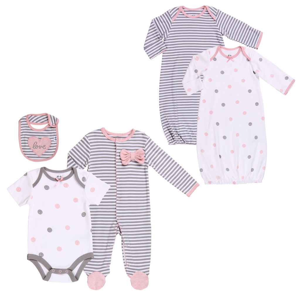 Baby Twin Girl 5-Pc Set