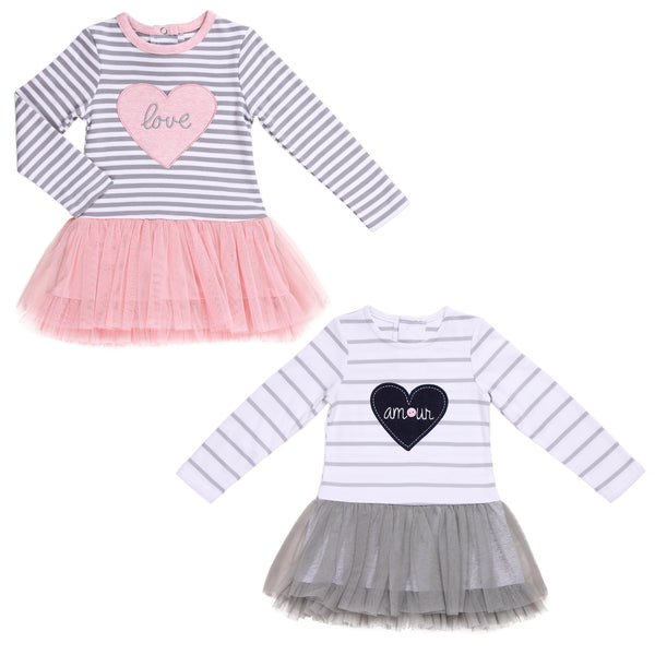 Baby Twin Girl Coordinating Mesh Tutu Dresses