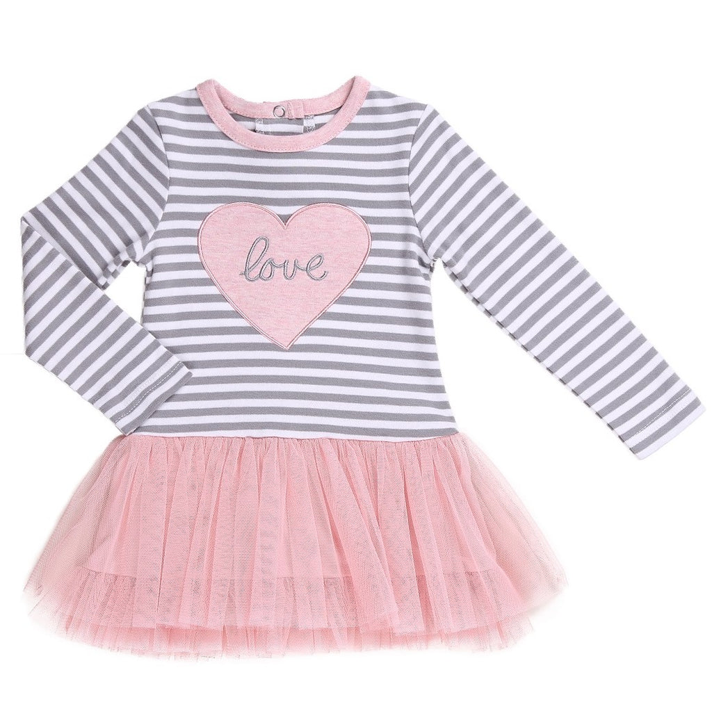 Baby Girl Heart Patch Tutu Dress