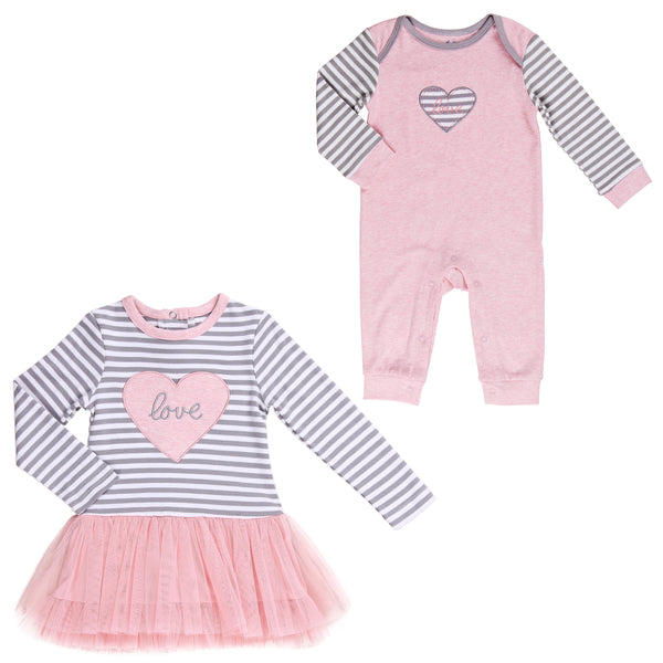 Baby Twin Girl 2-Pc Set