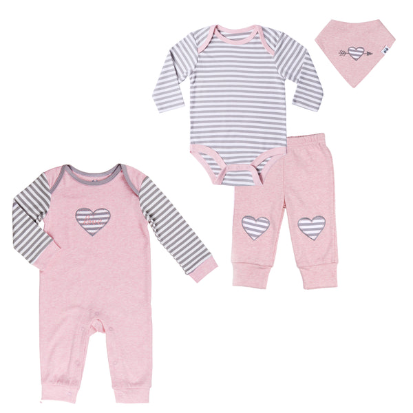 Baby Twin Girl 4-Pc Set