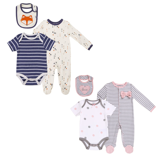 Boy-Girl Twin 6-Piece Layette Set