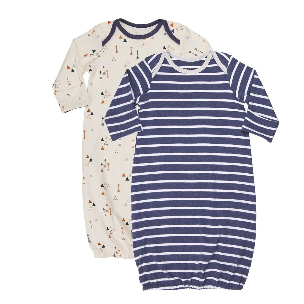 Baby Sleep Sack (2 piece set) in Arrow Print and Navy Stripes