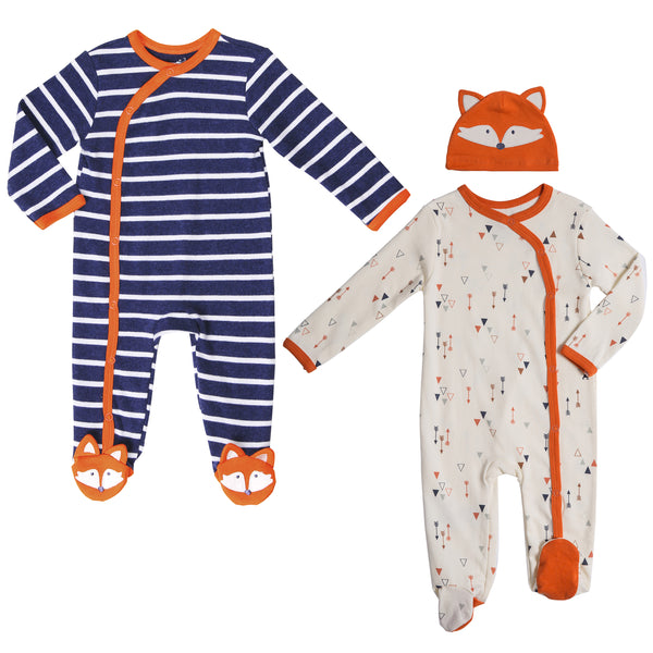 Twin Boy 3-pc Footie Set