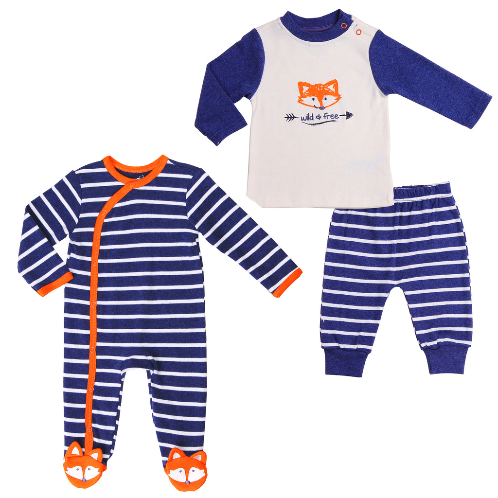 Baby Twin Boy Outfit 3-Piece Set
