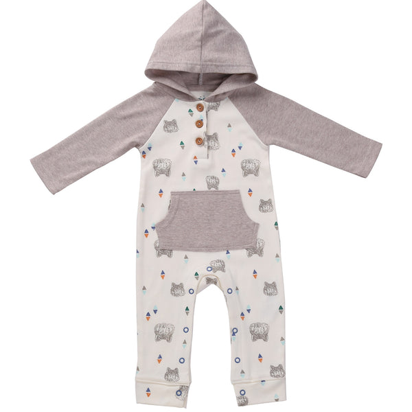 Hooded Baby Romper