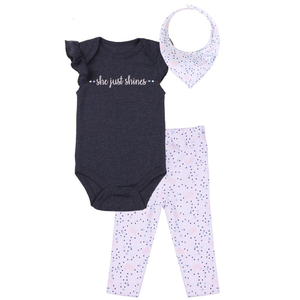 3 Pc Baby Girl Outfit