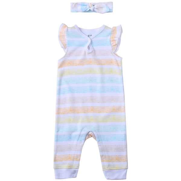 Baby Girl romper (W/ headband)