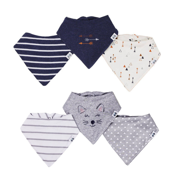 Boy-Girl Twin 6-Pc Bibs