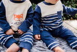 Baby Twin Boy Outfit 4-Piece Set