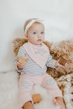 Baby in Asher and Olivia Layette Set