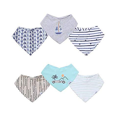 Asher & Olivia Baby Bandana Bibs 3-Piece Drool Bibs for Boys Baby Shower Gifts