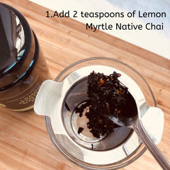 Lemon Myrtle Ice Chai Step by step
