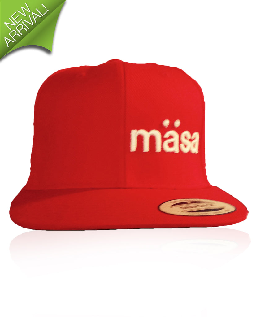 Masa Stitched Snapback Hat – Red