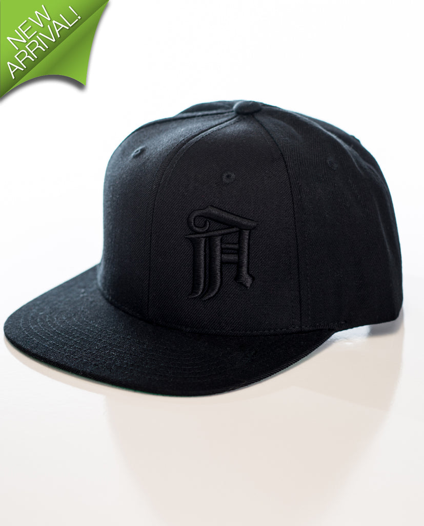 Atmosphere Abstract Snapback– Black on Black