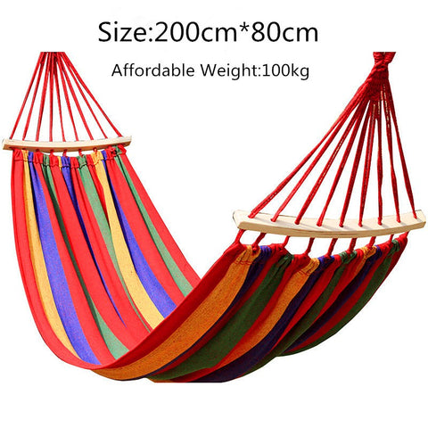 Backpacking Hammock - Portable Canvas Parachute Outdoor Single Hammock