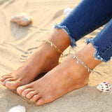 17KM 1-pc Summer Beads Pendant Anklet Foot Chain Tassel Beach Vintage Foot Jewelry | calizota