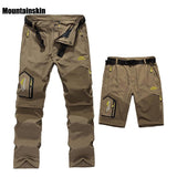 5XL Mens Summer Quick Dry Removable Pants Outdoor Brand Cloting Male Breathable Shorts Men Hiking Camping Trekking Trousers A009