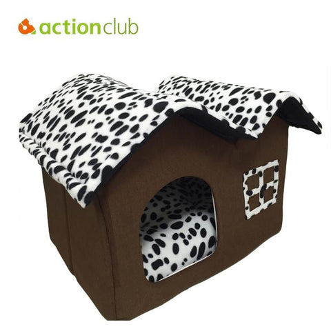 Actionclub Cotton Folding Bed House For Large Pets With Mat | calizota