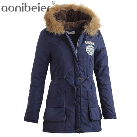 Aonibeier Womens Warm Winter Parka Jacket with Fur Collar
