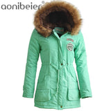 Aonibeier Womens Warm Winter Parka Jacket with Fur Collar | calizota