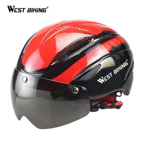 Bicycle Helmets Magnetic Goggles Casco Ciclismo Casque Velo Ultralight lens MTB