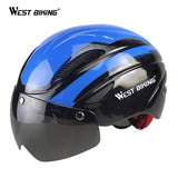 Bicycle Cycling Helmets Casco Ciclismo Casque Velo Ultralight Integrally-molded MTB Bike Helmets Magnetic Goggles Cycling Helmet