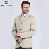 CITY CLASS New Man Summer Casual Windbreakers Fashion Turn-down Suit Collar Unlined Garment Cotton Outwears Free Shipping 13104 | calizota