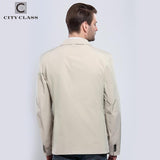 CITY CLASS New Man Summer Casual Windbreakers Fashion Turn-down Suit Collar Unlined Garment Cotton Outwears Free Shipping 13104