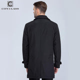 CITY CLASS New Mens Autumn Coats Fashion Casual Classic Trenchs Fit Turn-down Collar Jackets Coats Free Shipping For male 1061-1 | calizota