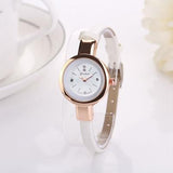 CLAUDIA luxury brand watch women fashion gold watch quartz clock girl slim band dress watches hours reloj mujer relogio feminino | calizota