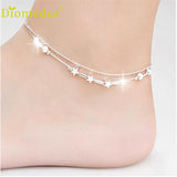 Diomedes Elegant Little Star Ladies Chain Ankle Bracelet | calizota